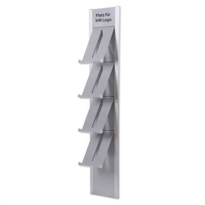 Prospektständer DESIGN Wandmodell Abmessungen: 328x1.760x219mm - prospektst nder design wandmontage 1