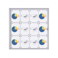 Schaukasten ECO BT26 Indoor 3x4 DIN A4 (Außenformat: 931x963mm) Gehäuse und Rahmen aus Aluminium - Schaukasten BT26  Indoor 3x4