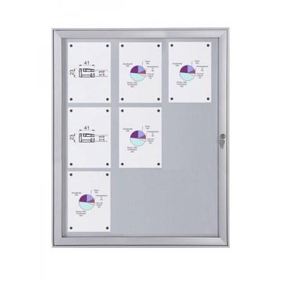 Schaukasten Flat BT23 Indoor/Outdoor 3x3 DIN A4 (Außenformat: 741x1.004mm) 9x DIN A4 - Schaukasten FLAT BT23 Indoor Outdoor 3x3