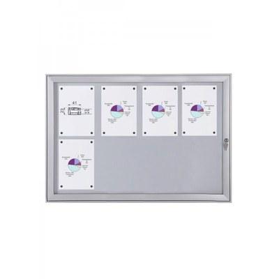 Schaukasten Flat BT23 Indoor/Outdoor 4x2 DIN A4 (Außenformat: 961x696mm) 8x DIN A4 - Schaukasten FLAT BT23 Indoor Outdoor 4x2