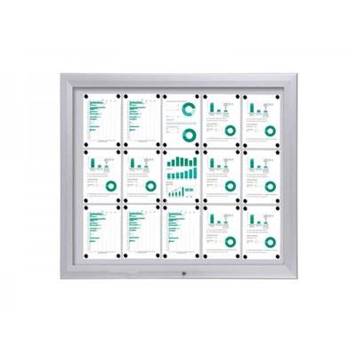 Schaukasten Premium BT46 Outdoor 5x3 DIN A4 (Außenformat: 1.245x1.067mm) 15x DIN A4 - Schaukasten PREMIUM BT46 Outdoor Quer 5x3
