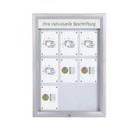 Schaukasten Premium BT46 Outdoor LED 3x3 DIN A4 (Außenformat: 805x1.117mm) Gehäuse und Rahmen aus Aluminium - Schaukasten PREMIUM LED BT46 Outdoor 3x3