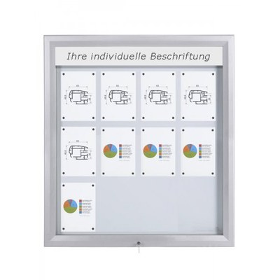 Schaukasten Premium BT46 Outdoor LED 4x3 DIN A4 (Außenformat: 1.025x1.167mm) 12x DIN A4 - Schaukasten PREMIUM LED BT46 Outdoor 4x3