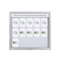 Schaukasten Premium BT46 Outdoor LED 5x3 DIN A4 (Außenformat: 1.245x1.167mm) Gehäuse und Rahmen aus Aluminium - Schaukasten PREMIUM LED BT46 Outdoor 5x3