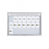 Schaukasten Premium BT46 Outdoor LED 7x3 DIN A4 (Außenformat: 1.685x1.067mm) Gehäuse und Rahmen aus Aluminium - Schaukasten PREMIUM LED BT46 Outdoor 7x3