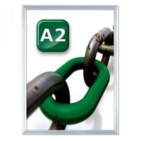 Slide-In Einschubrahmen Einlegeformat: DIN A2 (420x594 mm) Profil: 24 mm - silber-eloxiert - slide Inn A2 25er Gehrung