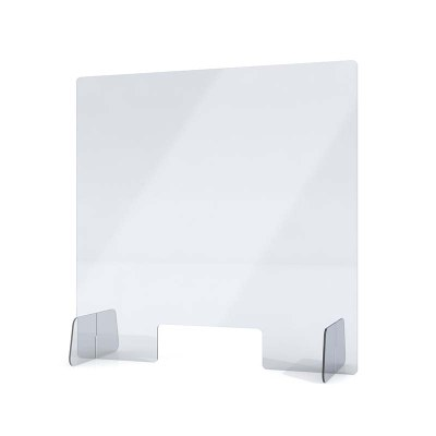 """Spuckschutz aus Acrylglas / Aufsteller Größe """"L"""" Hochformat 650x650x250 mm - 4mm Materialstärke glasklares Acrylglas XT - Spuckschutz Aufsteller L"""