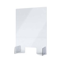 """Acrylschutzwand als Spuckschutz Aufsteller Grösse """"M"""" 500x750x250 mm glasklares Acrylglas XT in 4mm Materialstärke - Spuckschutz Aufsteller M"""