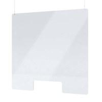 """Acrylschutzwand als Spuckschutz Deckenhänger Grösse """"L"""" Format 1.000x1.000 mm glasklares Acrylglas XT in 4mm Materialstärke - Spuckschutz Deckenhänger L"""