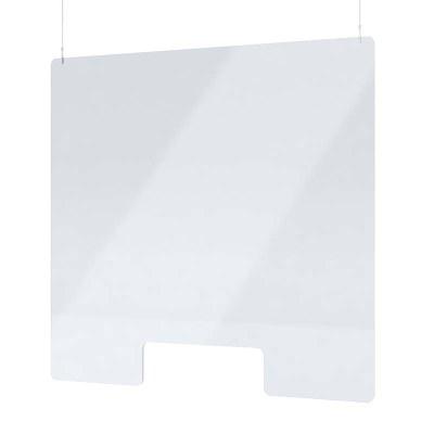 "Spuckschutz aus Acrylglas / Deckenhänger Größe ""L"" Hochformat 1.000x1.000 mm - 4mm Materialstärke glasklares Acrylglas XT - Spuckschutz Deckenhänger L"