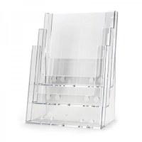 Tischständer - Mehrfach Einlegeformat: DIN A4 (210x297 mm) Anzahl Fächer: 3 (hintereinander) - Dispenser-DIN-A4-3-fach-Tisch-Pro49