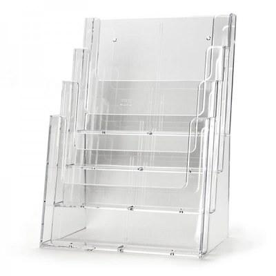 Tischständer - Mehrfach Einlegeformat: DIN A4 (210x297 mm) Anzahl Fächer: 4 (hintereinander) - Dispenser-DIN-A4-4-fach-Tisch-PRO216