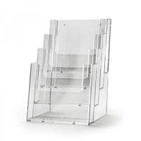 Tischständer - Mehrfach Einlegeformat: DIN A5 (148x210 mm) Anzahl Fächer: 4 (hintereinander) - Dispenser-DIN-A5-4-fach-Tisch-PRO56
