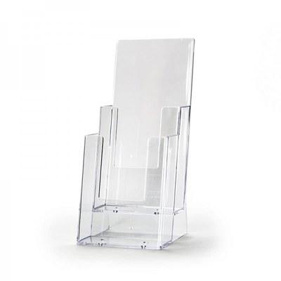 Tischständer - Mehrfach Einlegeformat: Lang-DIN (105x210 mm) Anzahl Fächer: 2 (hintereinander) - Dispenser-Lang-DIN-2x-Hintereinander-2C110