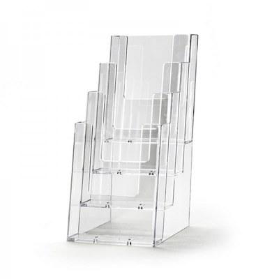 Tischständer - Mehrfach Einlegeformat: Lang-DIN (105x210 mm) Anzahl Fächer: 4 (hintereinander) - Dispenser-DIN-Lang-4-fach-Tisch-PRO57