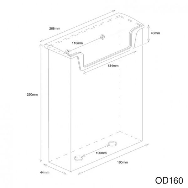 Dispenser-DIN-A5-wasserabweisend-OD160-Zeichnung