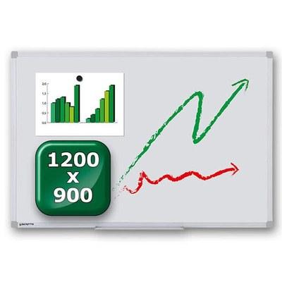 Whiteboard ECO zur Wandmontage Außenformat: 1.200x900x15 mm (BxHxT) 1.200x900x15 mm - whiteboard-eco-1200x900 1