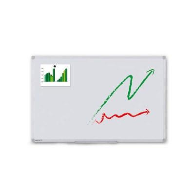 Whiteboard ECO zur Wandmontage Außenformat: 1.200x900x15 mm (BxHxT) Sichtformat: 1.166x866 mm (BXH) - Whiteboard-ECO-1200x900_Übersicht
