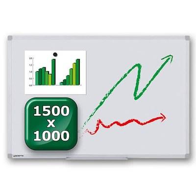 Whiteboard ECO zur Wandmontage Außenformat: 1.500 x 1.000x15 mm (BxHxT) 1.500x1.000x15 mm - whiteboard-eco-1500x1000 1