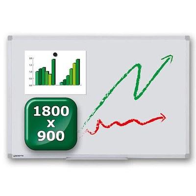 Whiteboard ECO zur Wandmontage Außenformat: 1.800x900x15 mm (BxHxT) 1.800x900x15 mm - whiteboard-eco-1800x900 1