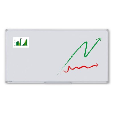 Whiteboard ECO zur Wandmontage Außenformat: 2.000x1.000x15 mm (BxHxT) Sichtformat: 1.966x966 mm (BXH) - Whiteboard-ECO_2000x1000_Übersicht