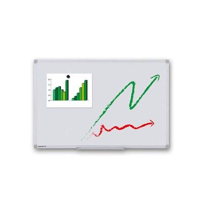 Whiteboard ECO zur Wandmontage Außenformat: 600x450x15 mm (BxHxT) Sichtformat: 566x416 mm (BXH) - Whiteboard-ECO_600x450_Übersicht
