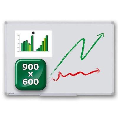 Whiteboard ECO zur Wandmontage Außenformat: 900x600x15 mm (BxHxT) 900x600x15 mm - whiteboard-eco-900x600