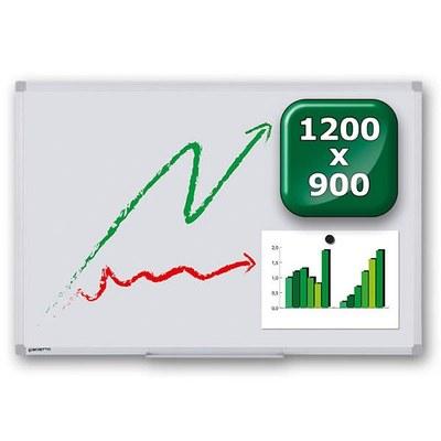 Whiteboard PREMIUM zur Wandmontage Außenformat: 1.200x900x15 mm (BxHxT) 1.200x900x15 mm - whiteboard-premium-1200x900