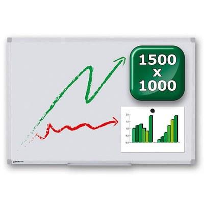 Whiteboard PREMIUM zur Wandmontage Außenformat: 1.500x1.000x15 mm (BxHxT) 1.500x1.000x15 mm - whiteboard-premium-1500x1000