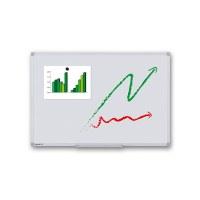 Whiteboard PREMIUM zur Wandmontage Außenformat: 900x600mm (B/H) Sichtformat: 866x566 mm (BxH) - Whiteboard-ECO_900x600_Übersicht