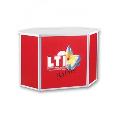 Druckset ALLEGRO®-Sechsecktheke Digitaldrucke Front & Seiten 1x Thekenfront 700 x 866 mm (BxH) - Sechsecktheke-mit-Druck 1